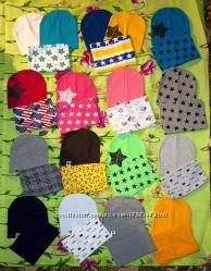 Трикотажные набор шапка и хомут