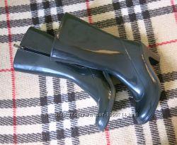Резиновые сапожки на каблуке, дождевички, стильные сапоги