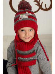 Комплект детский шапкашарф для девочки Raster RENIFER