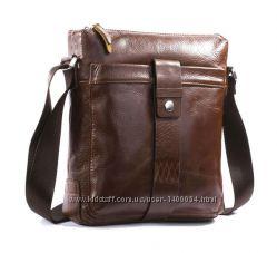 Стильная мужская сумка S. J. D. из натуральной кожи