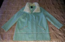 Пальто трендовое голубое Оверсайз р. 48-52 евро 1846