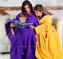 Пледы с рукавами для всей семьи. Возможно с вышивкой
