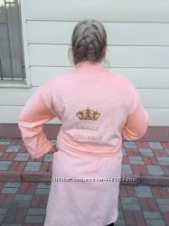 Махровый халат именной с вышивкой