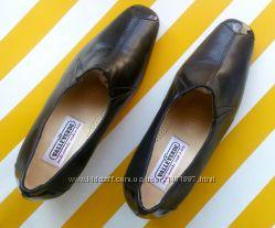 Кожаные туфли с лаковыми вставками Valle Verde made in Italy