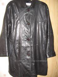 Кожаное пальто 52 -54 р.