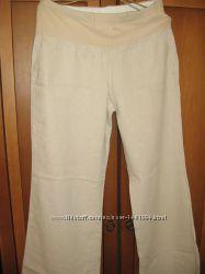 Льняные брюки для беременной 48 р.
