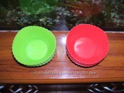 силиконовые формы для кексов, 6 шт красные