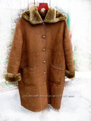 Зимнее пальто-дубленка