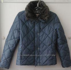 Куртка с меховым воротником, размер L