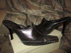 Кожаные Сабо Закрытый носок 41  Туфли женские  Демисезонная Обувь
