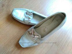 Туфли для женщин ЕССО белые кожаные размер 39