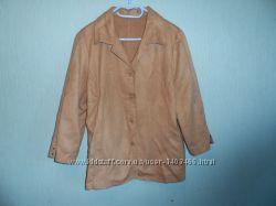 Женская велюровая осенняя куртка