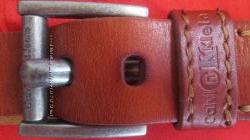 Рыжий кожаный ремень Calvin Klein