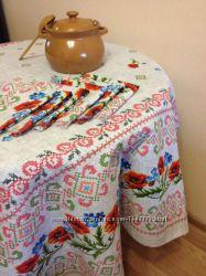 Набор скатерть и салфетки в украинском стиле