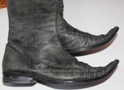 Ботинки сапоги кожа Италия деми