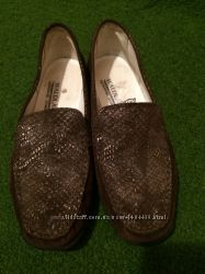 Туфли Waldlaufer из натуральной замши и кожи