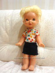 Кукла СССР мальчик в родной одежде с моргающими глазами