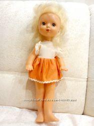 Кукла СССР в фабричном платье, 43 см.