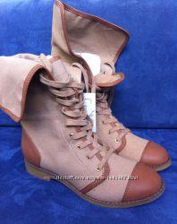 Осенне-весенние женские сапоги-ботинки Zara размер 37, 40
