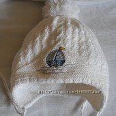 Теплая белоснежная шапочка для малыша от 9 месяцев-1, 5 года