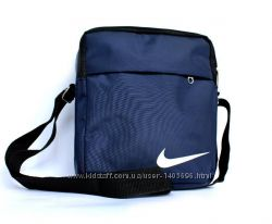 Мужская сумка спортивная синяя со значком NIKE