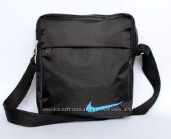 Мужская сумка спортивная черная со значком NIKE