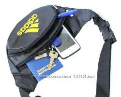 Мужская спортивная сумка БАНАНКА с значком ADIDAS