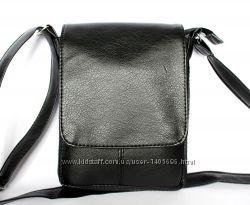 Компактная мужская сумка черногокоричневого цвета