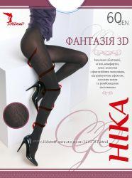 Эксклюзивные колготки Фантазия 3D 60 den, с объёмным фантазийным рисунком
