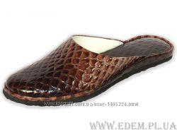 Тапочки женские Pellagio 504 Питон коричнево-бежевый