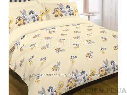 Постельное белье Viluta детское в кроватку 105х145 ранфорс 9509 персиковый