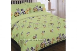 Постельное белье Viluta детское в кроватку 105х145 ранфорс 9509 зеленый