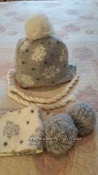 Набор шапка и шарф Monnalisa bebe Италия 12 мес.
