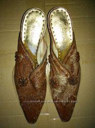 Кожаные туфли сабо BCBGirls из США Вестерн Ковбойские босоножки Мюли р 37,