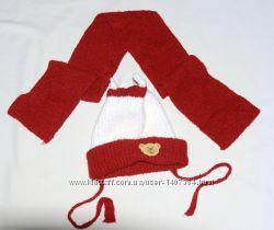 Шапочка с шарфом на мальчика 3-4 года польского пр-ва