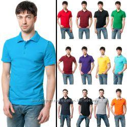 футболка Поло мужская - 36 разных цветовых сочетаний