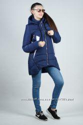 Зимняя молодежная женская куртка с фигурным низом