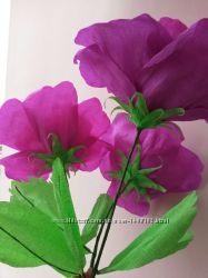 Большой цветок, гигантская роза, цветы из бумаги