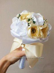 Букет невесты, свадебный букет из лент, дублер
