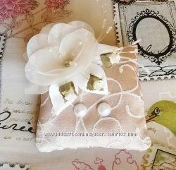 Подушечка для колец, свадебная подушечка