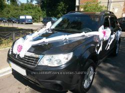 Украшения на машину, свадебное украшение на авто