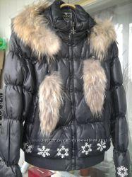 Пуховая стильная курточка