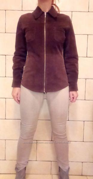 Куртка кожаная деми р-р S