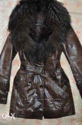 Кожан. куртка с шикарным воротником