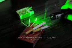 Зеленая мощная лазерная указка HY Laser 303 лазер