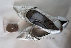 Туфли EPIFFANI серебристые, натуральная кожа, 36