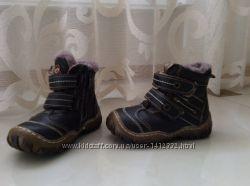 Ботиночки детские зимние кожаные