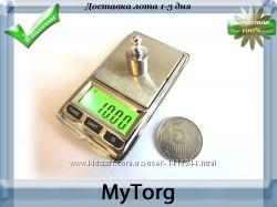 Весы карманные высокоточные100г 0. 01-500г0. 1