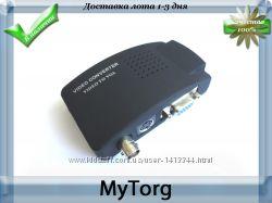 Конвертер bnc s-video в vga монитор