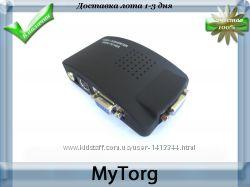 Конвертер av rca s-video в vga монитор